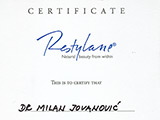 Surgeon's diploma – Restylane certificate 2010